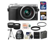 Panasonic Lumix DMC-GX7 Micro Four Thirds Digital Camera with 14-42mm II Lens with 32GB Card + Battery + Backpack + Tripod + Tele/Wide Lenses + Accessory Kit