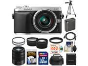 Panasonic Lumix DMC-GX7 Micro Four Thirds Digital Camera with 14-42mm II Lens with 45-150mm Lens + 32GB Card + Battery + Case + Filters + Tripod + Tele/ Wide Lens Kit