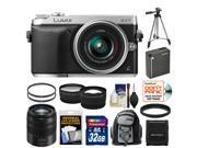 Panasonic Lumix DMC-GX7 Micro Four Thirds Digital Camera with 14-42mm II Lens with 45-150mm Lens + 32GB Card + Battery + Backpack + Tripod + Tele/ Wide Lens Kit