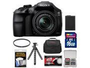 Sony Alpha A3000 Digital Camera & 18-55mm Lens (Black) with 16GB Card + Battery + Case + Filter + Flex Tripod + Accessory Kit