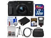 Fujifilm X30 Wi-Fi Digital Camera (Black) with 32GB Card + Case + Flash + Battery + Tripod + Kit