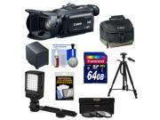 Canon Vixia HF G30 Flash Memory Wi-Fi 1080p HD Digital Video Camcorder with 64GB Card + Battery + Case + LED Video Light + 3 Filters + Tripod + Accessory Kit