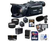 Canon Vixia HF G30 Flash Memory Wi-Fi 1080p HD Digital Video Camcorder with 64GB Card + 2 Batteries & Charger + Case + LED + Mic + Tele/Wide Lens Kit