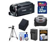 Canon Vixia HF R52 32GB Flash Memory 1080p HD Wi-Fi Digital Video Camcorder with 32GB Card + Battery & Charger + Case + Tripod + Kit
