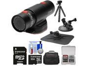 Replay XD Prime X Waterproof Wi-Fi HD Action Video Camera Camcorder with 32GB Card + Car Suction Cup & Dashboard Mounts + Case + Flex Tripod + Kit