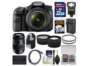 Sony Alpha SLT-A58 Digital SLR Camera Body & 18-55mm Lens with 70-300mm Lens + 32GB Card + Backpack + Flash + Battery/Charger + 2 Lens Kit