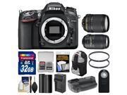 Nikon D7100 Digital SLR Camera Body with 18-140mm & 55-300mm VR Lens + 32GB Card + Backpack + Grip + Battery/Charger + Kit