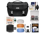 Nikon Deluxe Digital SLR Camera Case - Gadget Bag with Pop-up Filter Set + Accessory Kit