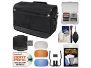 Nikon DSLR Camera/Tablet Messenger Shoulder Bag with Diffuser Filter Set + Accessory Kit