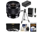 Sony Alpha E-Mount 10-18mm f/4.0 OSS Wide-angle Zoom Lens with 3 Filters + Tripod + NP-FW50 Battery & Charger + Kit