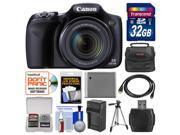 Canon PowerShot SX520 HS Digital Camera with 32GB Card + Case + Battery & Charger + Tripod + Kit