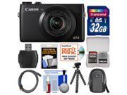 Canon PowerShot G7 X Wi-Fi Digital Camera with 32GB Card + Case + Flex Tripod + Accessory Kit
