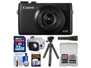Canon PowerShot G7 X Wi-Fi Digital Camera with 32GB Card + Underwater Case + Flex Tripod + LED Torch + Accessory Kit