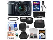 Canon PowerShot G1 X Mark II Wi-Fi Digital Camera with 32GB Card + Case + Tripod + 3 Filters + Tele/Wide Lens Kit