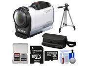 Sony Action Cam HDR-AZ1 Mini HD Video Camera Camcorder with 32GB Card + Case + Tripod + Accessory Kit
