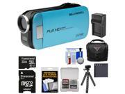 Bell & Howell Slice2 DV7HD 1080p HD Slim Video Camera Camcorder (Blue) with 32GB Card + Battery + Charger + Case + Flex Tripod + Kit