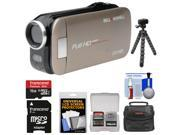 Bell & Howell Slice2 DV7HD 1080p HD Slim Video Camera Camcorder (Champagne) with 16GB Card + Case + Flex Tripod + Kit