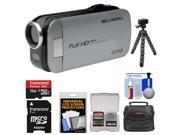 Bell & Howell Slice2 DV7HD 1080p HD Slim Video Camera Camcorder (Gray) with 16GB Card + Case + Flex Tripod + Kit
