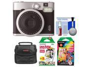 Fujifilm Instax Mini 90 Neo Classic Instant Film Camera with Instant Film + Instant Rainbow Film + Case + Cleaning Kit