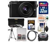 Panasonic Lumix DMC-GM5 Micro Four Thirds Wi-Fi Digital Camera & 12-32mm Lens (Black) with 32GB Card + Case + Tripod + 3 Filters Kit