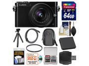 Panasonic Lumix DMC-GM5 Micro Four Thirds Wi-Fi Digital Camera & 12-32mm Lens (Black) with 64GB Card + Case + Battery + Tripod + Filter + Kit
