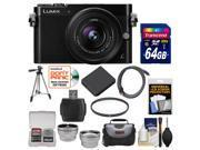 Panasonic Lumix DMC-GM5 Micro Four Thirds Wi-Fi Digital Camera & 12-32mm Lens (Black) with 64GB Card + Case + Battery + Tripod + Filter + Tele/Wide Lens Kit