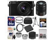Panasonic Lumix DMC-GM5 Micro Four Thirds Wi-Fi Digital Camera & 12-32mm Lens (Black) with 45-150mm Lens + 64GB Card + Case + Battery + Tripod + Kit