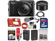 Nikon 1 AW1 Shock & Waterproof Digital Camera Body with AW 11-27.5mm & 10mm Lens (Black) with 32GB Card + Battery & Charger + Silicone Case + Strap + LED Torch + Kit