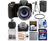 Kodak PixPro AZ521 Astro Zoom Digital Camera with 32GB Card + Battery & Charger + Case + Tripod + Filter + Kit