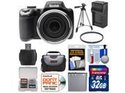 Kodak PixPro AZ525 Astro Zoom Wi-Fi Digital Camera with 32GB Card + Battery & Charger + Case + Tripod + Filter + Kit