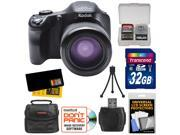 Kodak PixPro AZ651 Astro Zoom Wi-Fi Digital Camera with 32GB Card + Case + Accessory Kit
