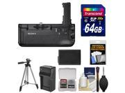 Sony VG-C2EM Vertical Battery Grip for Alpha A7 II Camera with 64GB Card + Battery & Charger + Accessory Kit