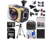 Kodak PixPro SP360 Wi-Fi HD Video Action Camera Camcorder - Explorer Pack with 32GB Card + Battery + Case + Tripod + Kit