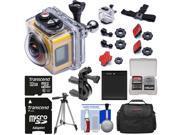 Kodak PixPro SP360 Wi-Fi HD Video Action Camera Camcorder - Aqua Sport Pack + 197' Underwater Housing + Handlebar/Bike Mount + 32GB Card + Battery + Case + Tripod Kit