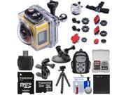 Kodak PixPro SP360 Wi-Fi HD Video Action Camera Camcorder - Aqua Sport Pack with Handlebar Bike & Suction Cup Mounts + 32GB Card + Battery + Backpack + Tripod + Kit