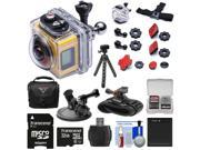 Kodak PixPro SP360 Wi-Fi HD Video Action Camera Camcorder - Aqua Sport Pack with Suction Cup & Wrist Mounts + 32GB Card + Battery + Case + Tripod + Kit