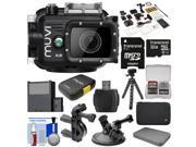 Veho Muvi K2 Wi-Fi Waterproof HD Video Action Camera Camcorder & 100m Underwater Housing with 32GB Card + Car Suction Cup & Handlebar Bike Mounts + Battery + Tripod + Case + Kit