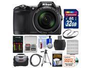 Nikon Coolpix L840 Wi-Fi Digital Camera (Black) with 32GB Card + Case + Batteries & Charger + Tripod + Strap + Kit
