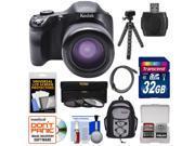 Kodak PixPro AZ651 Astro Zoom Wi-Fi Digital Camera with 32GB Card + Backpack + Flex Tripod + 3 Filters + Kit