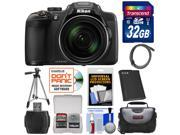 Nikon Coolpix P610 Wi-Fi Digital Camera (Black) with 32GB Card + Battery + Case + Tripod + Accessory Kit