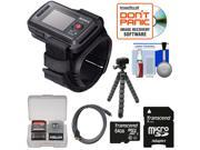 Sony RM-LVR2 Live View Wireless Wristband Remote for Action Camera with 64GB Card + Flex Tripod + HDMI Cable + Accessory Kit