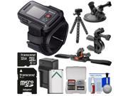 Sony RM-LVR2 Live View Wireless Wristband Remote for Action Camera + 32GB Card + Handlebar, Helmet & Suction Cup Mounts + NP-BX1 Battery/Charger + Tripod Kit