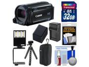 Canon Vixia HF R60 8GB Wi-Fi 1080p HD Video Camcorder with 32GB Card + Case + LED Light & Bracket + Battery & Charger + Tripod + Kit