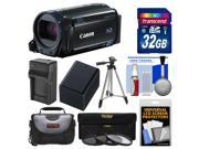 Canon Vixia HF R60 8GB Wi-Fi 1080p HD Video Camcorder with 32GB Card + Case + Battery & Charger + Tripod + 3 Filters + Kit