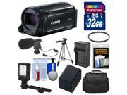 Canon Vixia HF R60 8GB Wi-Fi 1080p HD Video Camcorder with 32GB Card + Case + LED Light + Microphone + Battery & Charger + Tripod Kit