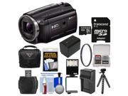 Sony Handycam HDR-PJ670 32GB Wi-Fi 1080p HD Video Camera Camcorder with Projector + 32GB Card + Case + LED Light & Bracket + Battery & Charger + Tripod + Filter Kit