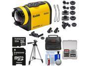 Kodak PixPro SP1 Video Action Camera Camcorder - Explorer Pack with 32GB Card + Case + Tripod + Kit