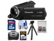 Panasonic HC-V160 HD Wi-Fi Video Camera Camcorder with 32GB Card + Case + Flex Tripod + Kit