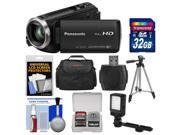 Panasonic HC-V270 HD Wi-Fi Video Camera Camcorder with 32GB Card + Case + LED Light + Tripod + Kit
