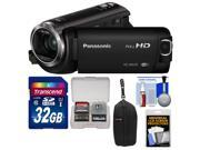 Panasonic HC-W570 Twin Recording HD Wi-Fi Video Camera Camcorder with 32GB Card + Case + Accessory Kit
